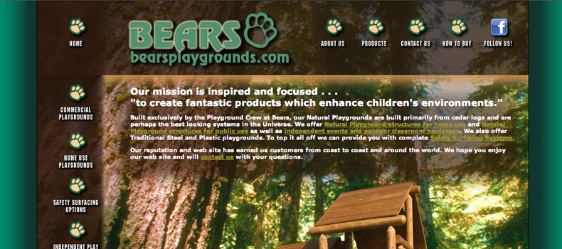 Bears Playgrounds website