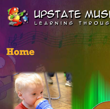 Upstate Music Therapy Center website