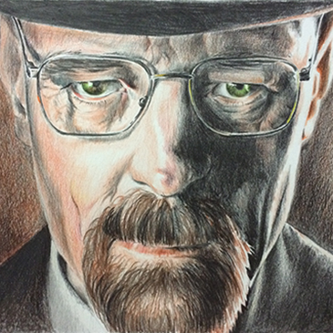 Walter White Illustration speed-draw